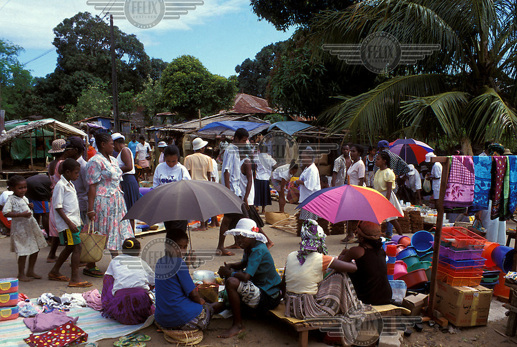 Goods for sale at the market.