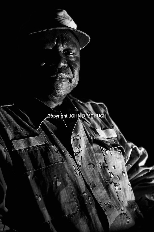 The Sudan People's Liberation Army (SPLA) leader in South Kordofan, Abdul Aziz Adam Al-Hilu, is seen after an exclusive interview with Al Jazeera English at an undisclosed location in South Kordofan, 5 July 2011. (John D McHugh)