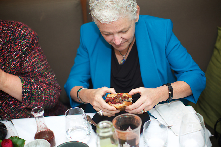 NEW YORK, NY - April 15, 2016: EPA Administrator Gina McCarthy and leaders of the James Beard Foundation attend lunch at Blue Hill, where Chef Dan Barber serves dishes from his WastEd campaign, which focusing on utilizing food that might otherwise go to waste.<br /> CREDIT: Clay Williams for the James Beard Foundation.<br /> <br /> &copy; Clay Williams / claywilliamsphoto.com