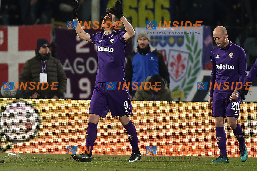 Esultanza Nicola Kalinic dopo il gol Fiorentina Goal celebration <br /> Firenze 15-01-2017 Stadio Artemio Franchi Football Campionato Serie A 2016/2017 <br /> Fiorentina - Juventus <br /> Foto Andrea Staccioli / Insidefoto
