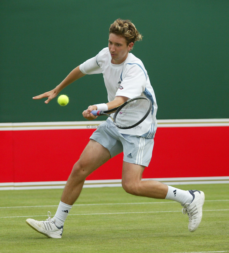 Photograph: Scott Heavey..Day 3 of the Stella Artois Championship at the Queens Club. 11/06/2003..Alex Bogdanovic