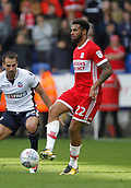 9th September 2017, Macron Stadium, Bolton, England; EFL Championship football, Bolton Wanderers versus Middlesbrough; Cyrus Christie of Middlesbrough on the ball