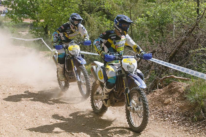 Circuit de Montignac - Les Farges, le samedi 19 avril 2014 - Theo BAZERQUE et Guillaume POUZOULET