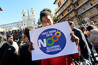 No al Referendum, flash mob di Liberi e sovrani