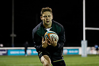Ealing Trailfinders players warm up ahead of the Championship Cup match between London Scottish Football Club and Ealing Trailfinders at Richmond Athletic Ground, Richmond, United Kingdom on 23 November 2018. Photo by David Horn/PRiME Media Images