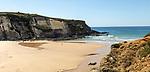 Sandy Carvalhal beach Costa Vicentina natural park, near Brejão, Alentejo Littoral, Portugal, Southern Europe