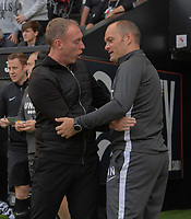 Swansea City manager Steve Cooper (left) Preston North End manager Alex Neil (right) <br /> <br /> Photographer David Horton/CameraSport<br /> <br /> The EFL Sky Bet Championship - Swansea City v Preston North End - Saturday 17th August 2019 - Liberty Stadium - Swansea<br /> <br /> World Copyright © 2019 CameraSport. All rights reserved. 43 Linden Ave. Countesthorpe. Leicester. England. LE8 5PG - Tel: +44 (0) 116 277 4147 - admin@camerasport.com - www.camerasport.com