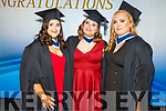 Early Child Care and Education graduates, Sharon O'Connor, Laura Monaghan and Jennifer White (Tralee) graduating from the I T Tralee on Friday.