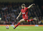Leigh Halfpenny of Wales takes a penalty - RBS 6Nations 2015 - Wales  vs England - Millennium Stadium - Cardiff - Wales - 6th February 2015 - Picture Simon Bellis/Sportimage