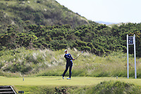 Alessandra Fanali (ITA) on the 7th tee during Round 3 Matchplay of the Women's Amateur Championship at Royal County Down Golf Club in Newcastle Co. Down on Friday 14th June 2019.<br /> Picture:  Thos Caffrey / www.golffile.ie<br /> <br /> All photos usage must carry mandatory copyright credit (© Golffile | Thos Caffrey)