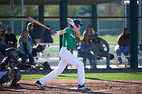 Max Manning (8) of Marin Catholic High School in Larkspur, California during the Baseball Factory All-America Pre-Season Tournament, powered by Under Armour, on January 13, 2018 at Sloan Park Complex in Mesa, Arizona.  (Art Foxall/Four Seam Images)