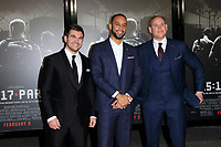 "LOS ANGELES - FEB 5:  Alek Skarlatos, Anthony Sadler, Spencer Stone at the ""The 15:17 To Paris"" World Premiere at the Warner Brothers Studio on February 5, 2018 in Burbank, CA"