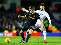 Leeds United's Tyler Roberts is tackled by Hull City's Markus Henriksen<br /> <br /> Photographer Alex Dodd/CameraSport<br /> <br /> The EFL Sky Bet Championship - Leeds United v Hull City - Saturday 29th December 2018 - Elland Road - Leeds<br /> <br /> World Copyright © 2018 CameraSport. All rights reserved. 43 Linden Ave. Countesthorpe. Leicester. England. LE8 5PG - Tel: +44 (0) 116 277 4147 - admin@camerasport.com - www.camerasport.com