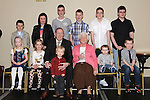 Tommy and Philomena Martin celebrating their 50th wedding anniversary in the Boyne Valley hotel with all their grandchildren. Photo: Colin Bell/pressphotos.ie