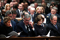 Columba Bush, former Florida Gov. Jeb Bush, Laura Bush and former President George W. Bush attend the State Funeral for former President George H.W. Bush at the Washington National Cathedral, Wednesday, Dec. 5, 2018, in Washington.<br /> CAP/MPI/RS<br /> &copy;RS/MPI/Capital Pictures
