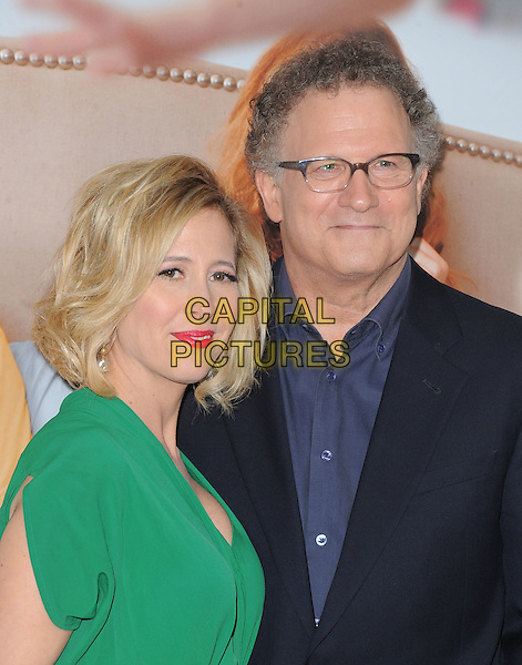 "Kimberly Brooks & Albert Brooks.""This Is 40"" Los Angeles Premiere held at Grauman's Chinese Theatre, Hollywood, California, USA..December 12th, 2012.half length green pink lipstick blue suit shirt glasses married husband wife .CAP/DVS.©DVS/Capital Pictures."