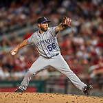 29 July 2017: Colorado Rockies pitcher Greg Holland on the mound against the Washington Nationals at Nationals Park in Washington, DC. The Rockies defeated the Nationals 4-2 in the first game of their 3-game weekend series. Mandatory Credit: Ed Wolfstein Photo *** RAW (NEF) Image File Available ***