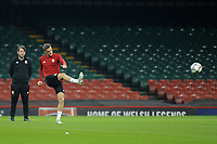 Andy King of Wales during the Wales Training Session at The Principality Stadium in Cardiff, Wales, UK. Wednesday 10 October 2018