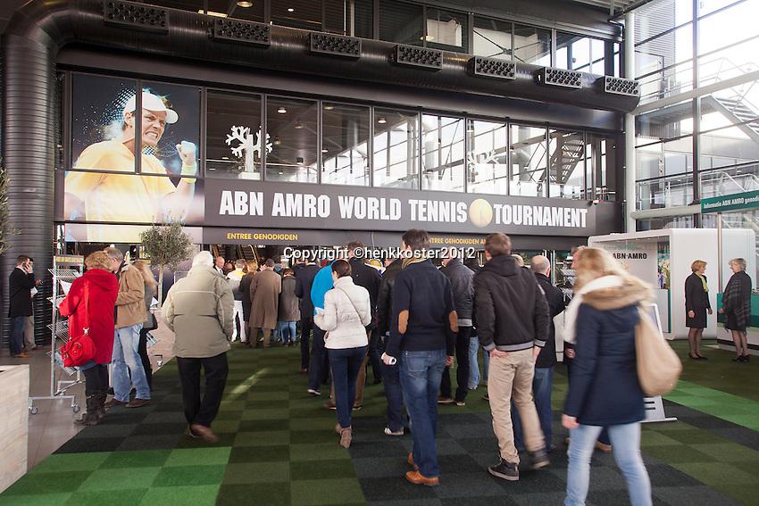 19-02-12, Netherlands,Tennis, Rotterdam, ABNAMRO WTT, Entree