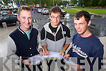 The Green School Leaving Cert students Kyle Cronin, Tralee, David Pula, Tralee and Jack Kenny Listellick who collected their results on Wednesday.