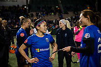 Seattle, WA - April 15th, 2017: Nahomi Kawasumi and Rumi Utsugi<br /> following a regular season National Women's Soccer League (NWSL) match between the Seattle Reign FC and Sky Blue FC at Memorial Stadium.