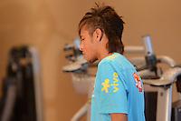RIO DE JANEIRO-10/07/2012-O jogador Neymar chegando na preparacao Fisica da Selecao Brasileira de Futebol, na Academia do Hotel Sheraton, onde esta concentrada desde ontem, no Leblon, Zona Sul do Rio.Foto:Marcelo Fonseca-Brazil Photo Press