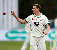 Will Gidman prepares to bowl for kent during day 1 of the four day tour match between Kent CCC and Pakistan at the St Lawrence Ground, Canterbury, on Sat April 28, 2018