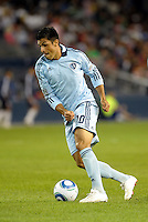 Sporting KC midfielder Jeferson in action... Sporting Kansas City played Chivas Guadalajara to a 2-2 tie at LIVESTRONG Sporting Park, Kansas City, Kansas in an international friendly.
