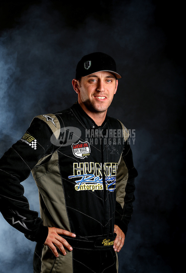 Mar. 21, 2014; Chandler, AZ, USA; LOORRS pro lite driver Eric Hunter poses for a portrait prior to round one at Wild Horse Motorsports Park. Mandatory Credit: Mark J. Rebilas-USA TODAY Sports
