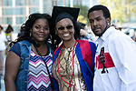 Students celebrate their graduation with family and friends Saturday, June 10, 2017, during the DePaul University School for New Learning commencement ceremony at the Rosemont Theatre in Rosemont, IL. (DePaul University/Jeff Carrion)
