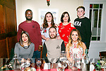 DV8 work Colleagues celebrating Josh Gaffy's Birthday at Denny Lane on Saturday. Pictured front Alma Armemtos, Joe Gaffy, Hollie Lynch, Back l-r Josh Soye, Aoife Fitzgerald, Caroline Hennessy and Garry Sheehy