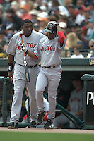 Pedro Martinez and David Ortiz. Boston Red Sox vs San Francisco Giants. San Francisco, CA 6/19/2004 MANDATORY CREDIT: Brad Mangin