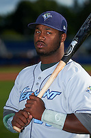 Vermont Lake Monsters outfielder B.J. Boyd (23) poses for a photo before a game against the Batavia Muckdogs on July 11, 2013 at Dwyer Stadium in Batavia, New York.  Batavia defeated Vermont 1-0.  (Mike Janes/Four Seam Images)
