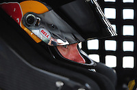 May 31, 2008; Dover, DE, USA; Nascar Sprint Cup Series driver Brian Vickers during practice for the Best Buy 400 at the Dover International Speedway. Mandatory Credit: Mark J. Rebilas-US PRESSWIRE