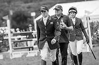 The Showjumping course walk for the Cahervillahow CCIO4*-S FEI Nations Cup Eventing. 2019 IRL-Sema Lease Camphire International Horse Trials. Cappoquin. Co. Waterford. Ireland. Sunday 28 July. Copyright Photo: Libby Law Photography