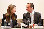 Princess Letizia of Spain with the Secretary of State of Security Francisco Martinez Vazquez (r) visit the villages of Haro and San Millan de la Cogolla.May 14,2013. (ALTERPHOTOS/Acero)