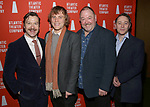 Billy Carter, Johnny Flynn, Mark Addy and Reece Shearsmith attends the 'Hangmen' Opening Night After Party at the The Gallery at the Dream Downtown on February 5, 2018 in New York City.
