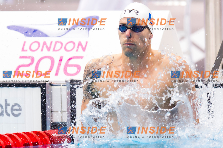 LACOURT Camille FRA gold medal<br /> London, Queen Elizabeth II Olympic Park Pool <br /> LEN 2016 European Aquatics Elite Championships <br /> Swimming<br /> Men's 100m backstroke final <br /> Day 09 17-05-2016<br /> Photo Giorgio Perottino/Deepbluemedia/Insidefoto