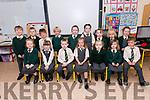 Pupils from Scoil Naomh Baiste, Lios Póil, who started school this year. Front left: Éabha Ní Ghabhain, Jorja Ní Shúilleabhain, Alex Diaconu, Muireann Ní Dhubhda, Emma Ní Chinnéide, Aoileann Ní Shúileabhain, Tom Ó hÉimhín. Back left: Ben Ó Mairtín, Leroy Ó Grifín, Conor Trebar, Rua McGorlick, Alisha Ní Churrain, Aibí Ní Dheargain, Ríona Ní Ghrifín, Mia Ní Cholumb, Anneli Ní Cholumb.