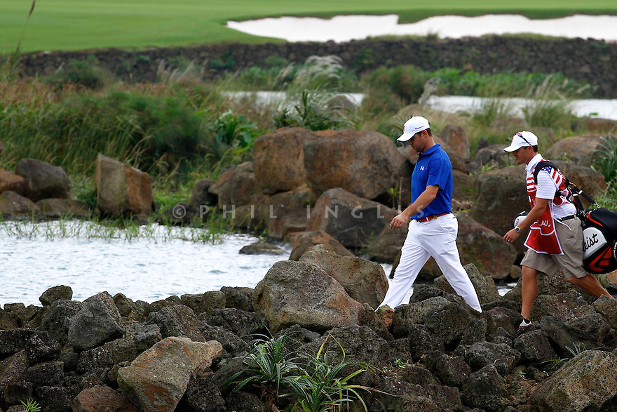 Gary Woodland (USA) during the final round of the Omega Mission Hills World Cup played at The Blackstone Course, Mission Hills Golf Club on November 27th in Haikou, Hainan Island, China.( Picture Credit / Phil Inglis )