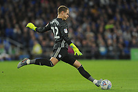 Cardiff City's Alex Smithies during the game <br /> <br /> Photographer Ian Cook/CameraSport<br /> <br /> The EFL Sky Bet Championship - Cardiff City v Huddersfield Town - Wednesday August 21st 2019 - Cardiff City Stadium - Cardiff<br /> <br /> World Copyright © 2019 CameraSport. All rights reserved. 43 Linden Ave. Countesthorpe. Leicester. England. LE8 5PG - Tel: +44 (0) 116 277 4147 - admin@camerasport.com - www.camerasport.com