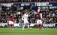 Barclays Premier League, West Ham V Swansea, 02/02/2013<br /> Pictured: Miguel Michu.<br /> Picture by: Ben Wyeth / Athena