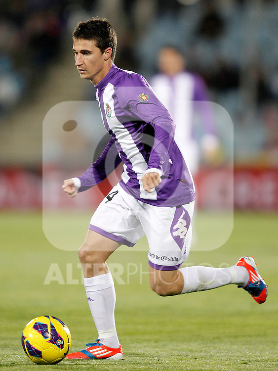 Real Valladolid's Omar Ramos during La Liga match.November 18,2012. (ALTERPHOTOS/Acero)