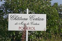 Chateau Certan de May de Certan. Pomerol, Bordeaux, France