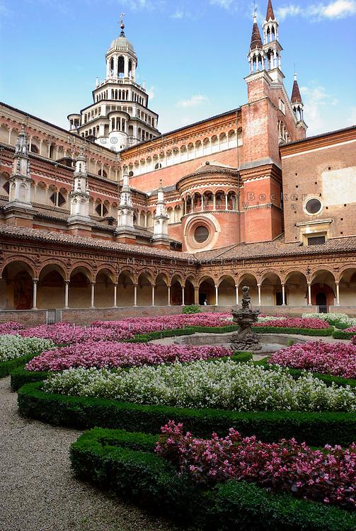 Monastero Certosa di Pavia, chiostro piccolo --- The monastery Certosa di Pavia, the small cloister
