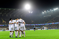 players of Paris celebrate after Kylian Mbappe forward of PSG scored  <br /> Bruges 22-10-2019 <br /> Club Brugge - Paris Saint Germain PSG <br /> Champions League 2019/2020<br /> Foto Panoramic / Insidefoto <br /> Italy Only