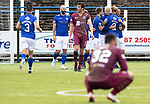 Queen of the South v St Johnstone&hellip;18.08.18&hellip;  Palmerston    BetFred Cup<br />Lyndon Dykes celebrates his goal<br />Picture by Graeme Hart. <br />Copyright Perthshire Picture Agency<br />Tel: 01738 623350  Mobile: 07990 594431