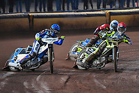 Heat 5 Josh Grajczonek of Poole Pirates right and Linus Sundstrum of Poole Pirates during Poole Pirates vs Belle Vue Aces, Elite League Speedway at The Stadium on 11th April 2018