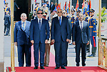 Egyptian President Abdel Fattah Al Sisi arrives to his swearing-in of the second presidential term, at a ceremony, at the House of Representatives in Cairo, Egypt, June 2, 2018. Photo by Egyptian President Office