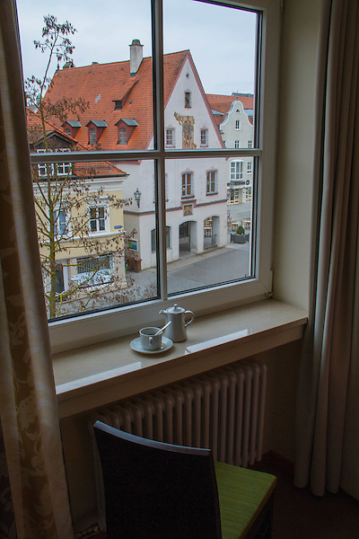 View from hotel window, Memmingen, Germany, Europe. .  John offers private photo tours in Denver, Boulder and throughout Colorado, USA.  Year-round. .  John offers private photo tours in Denver, Boulder and throughout Colorado. Year-round.